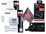 2 Pack of LP-E8 Vivitar Ultra High Capacity Rechargeable 1300mAh Li-ion Batteries + Vivitar Dual Battery Charger + Microfiber Lens Cleaning Cloth LPE8 (Canon LP-E8 Replacement)
