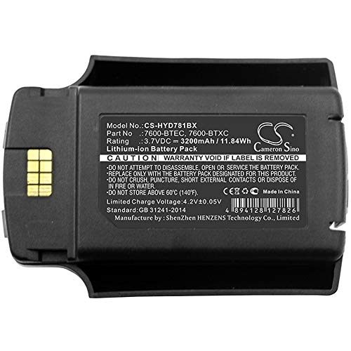 3200 Mah Mobile - ScanneReplacement Backup Battery 3200mAh/11.84Wh 3.7V Li-ion Bar Code Scanner Battery Compatible For Honeywell Fits Model Dolphin 7600/Dolphin 7600 II Rechargeable Cells Commonly Used Battery