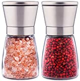 Topnotch Salt and Pepper Grinder Set - Brushed Stainless Steel...