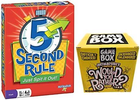 Juego de Reglas de 5 Segundos y ¿prefieres Hacerlo? Caja de Juego: Amazon.es: Juguetes y juegos