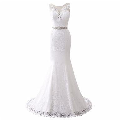 aa2f440202 XGSD Women s Wedding Dress Long Mermaid Wedding Dress Sexy Lace Wedding  Bridal Gowns Vestido De Noiva