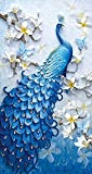 DIY 5D Diamond Painting Embroidery Kit - Royal Azure Peacock (Extra Large)