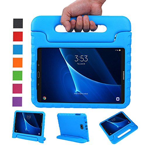 NEWSTYLE Samsung Galaxy Tab A 10.1 Kids Case - Shockproof Light Weight Protection Handle Stand Case for Samsung Galaxy Tab A 10.1 Inch (SM-T580/T585) Tablet 2016 Release (Blue) Not Fit - Tablet Kids Case Samsung 3 Tab