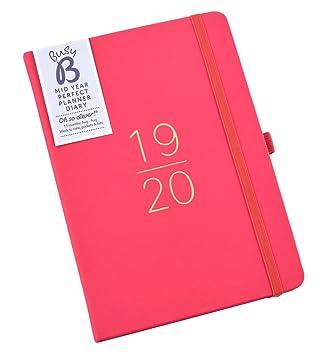 Agenda de planificación perfecta mediados de año 2019-20 Busy B - vista por semana con pegatinas y bloc de lista