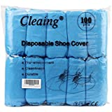 Cleaing 50 Pairs Disposable Polypropylene Machine-made Shoe Covers (Standard)