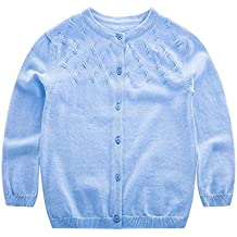 KASULAR Baby Girl Sweater Pure Color Knitting Patterns Cardigan 1-5Years Spring