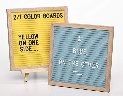 Felt Message Board with Letters - Letterboard is Colorful and Reversible for Max Message Impact | Easel Stand, Black & White Letters | 10x10 Felt Letter Board is The Perfect Message Board
