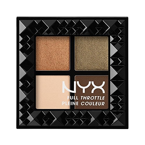 NYX COSMETICS FULL THROTTLE EYESHADOW 4 PAN PALETTE - FTSP04 EASY ON THE EYES (4 Pan Palette)
