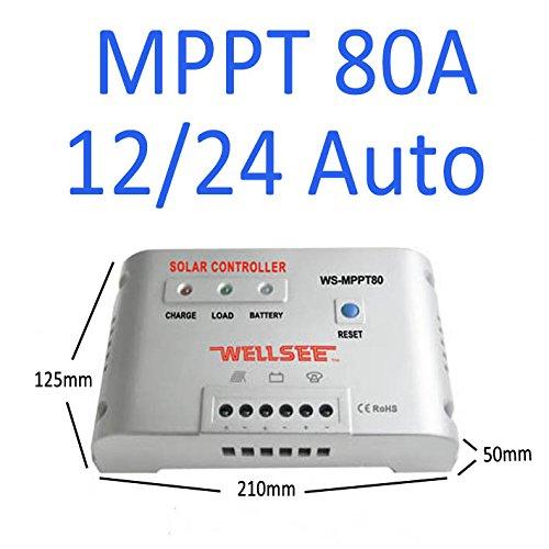 80A 12V 24V Laderegler Solar Solar Autoswitch MPPT Solar Panel Controller...