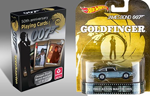 007 Card & Aston Martin Set Goldfinger & Cartamundi Retro
