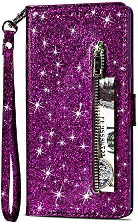 Artfeel Reißverschluss Brieftasche Hülle Für Samsung Galaxy S9 Bling
