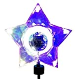 Kurt Adler 14-Light Rotating Mirror Ball Star Treetop with UL Approved adaptor