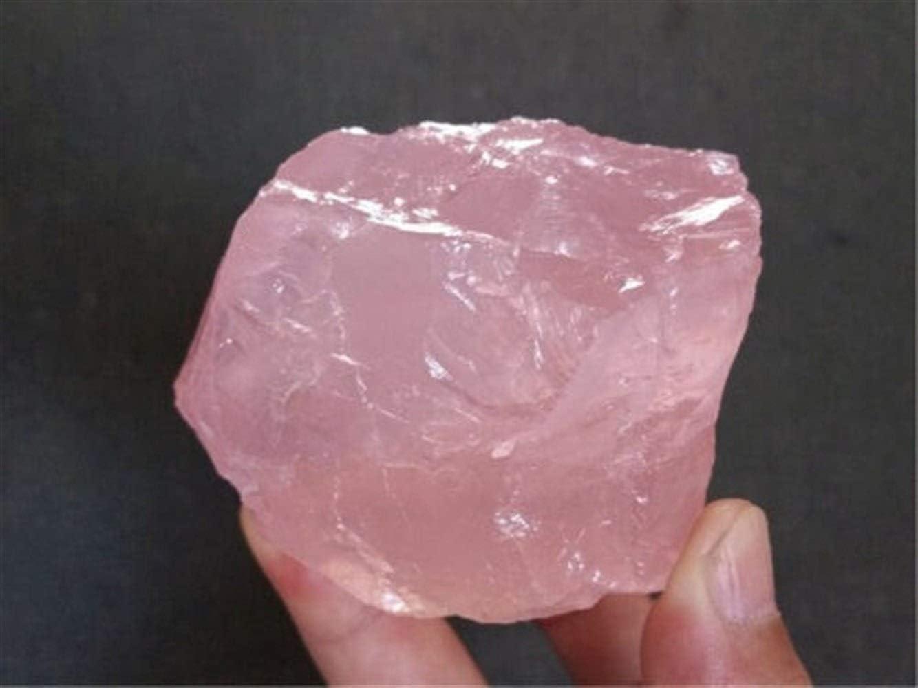 1pcs naturel rugueux Cristaux Quartz Rose Cristal reiki pierre brute cicatrise aquarium d/écoration de mariage