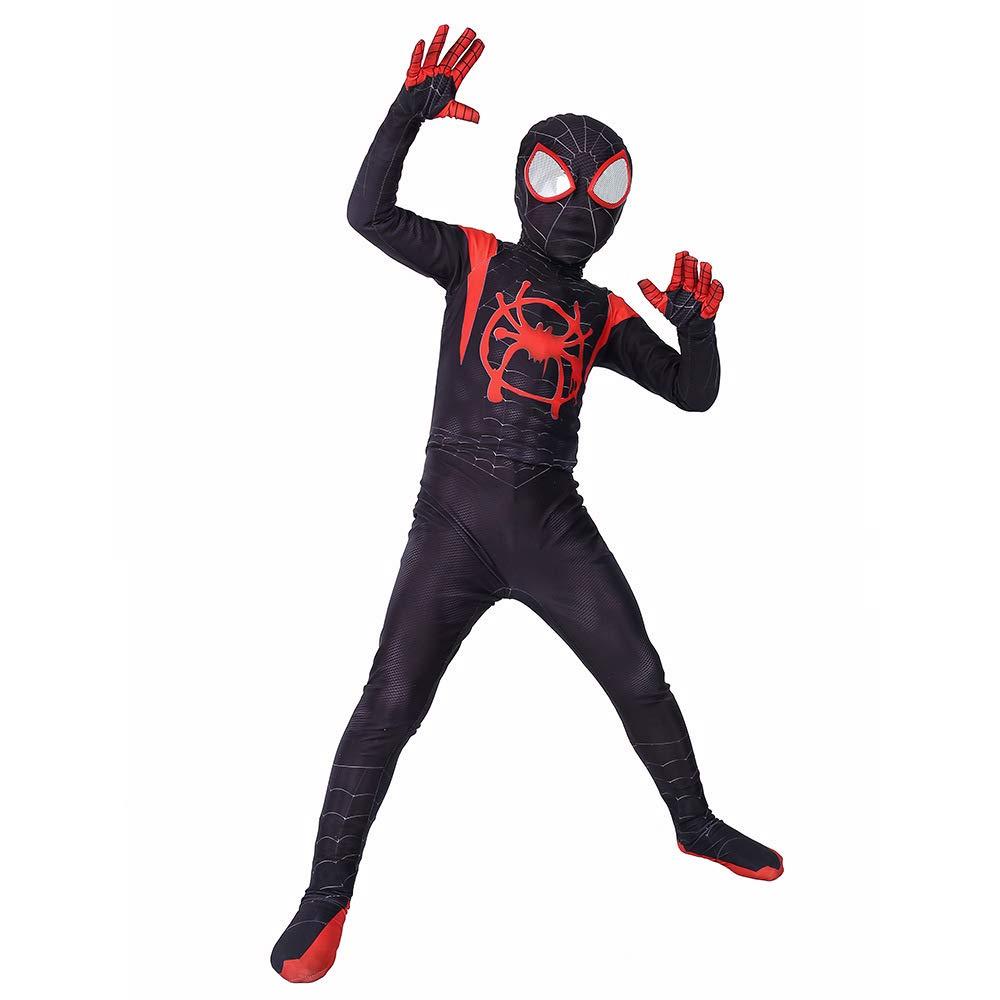KYOKIM Niño Negro Traje De Spiderman Halloween Cosplay ...
