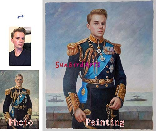 Oil painting-Custom oil portrait painting-Paint your face onto famous painting-Original family portrait-Pet Portrait-Wedding portrait and etc-One figure-8×10 inches