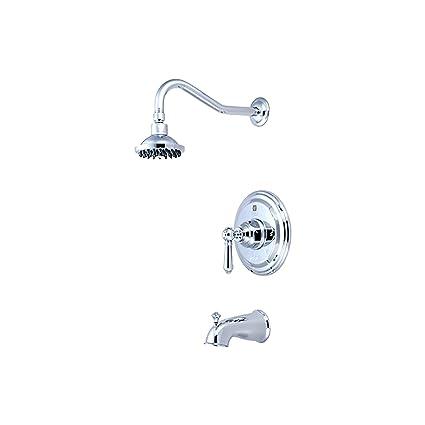 Pioneer 4 Am100T-TB sola manija bañera y ducha juego de tapacubos, PVD Toscana