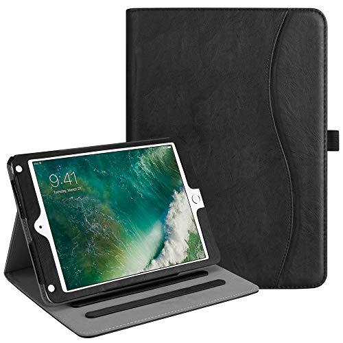 Fintie iPad 9.7 2018 2017 / iPad Air 2 / iPad Air Case - [Corner Protection] Multi-Angle Viewing Folio Cover w/Pocket, Auto Wake/Sleep for iPad 6th/5th Gen, iPad Air 1/2, Classic Black