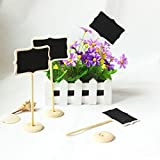 Saitec  New hot 12 pcs DIY Mini Chalkboard Blackboards On Stick Stand Place Holder Wedding Table Decoration Seating Numbers Holiday Supplies