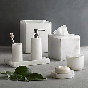 kassatex alabaster 7 piece complete bath set home kitchen. Black Bedroom Furniture Sets. Home Design Ideas