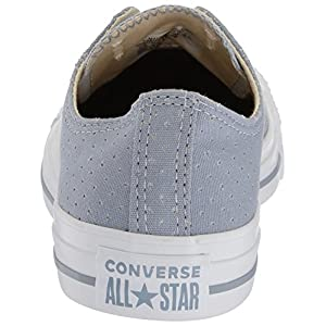 Converse Women's Chuck Taylor All Star Perforated Canvas Low Top Sneaker, Glacier Grey/White/White, 8 M US