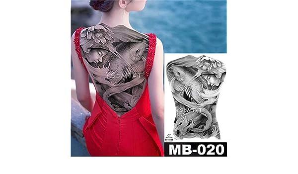 Modeganqing 2 Piezas de 48x35 cm Adhesivos de Tatuaje Grandes ...