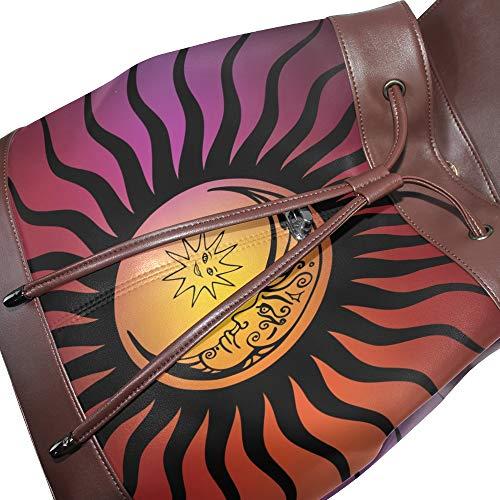 Bolso Única Piel Talla Multicolor Mujer De Dragonswordlinsu Para Mochila 8dtxz8Bwq
