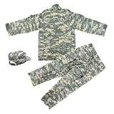 Kids Military Realistic Uniform Army Costume Camo