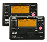 Korg TM-50 Combination Instrument Tuner and Metronome - Black - 2-Pack