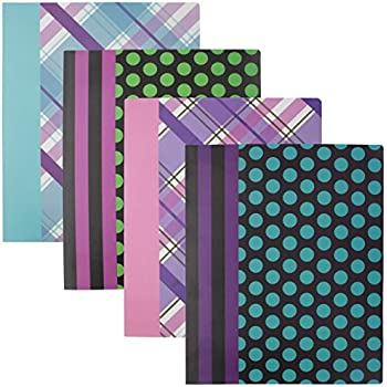 Amazon emraw laminated fashion sass class 2 pocket poly file emraw laminated fashion plaid dots 2 pocket poly file portfolio folder used for papers loose leafs business cards compact discs etc 4 pack colourmoves
