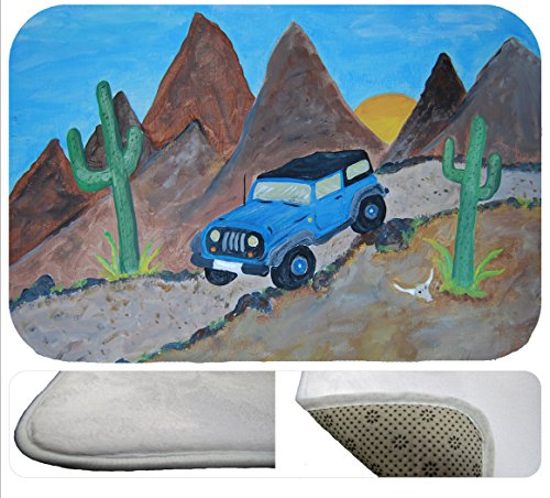Blue Sports 4 wheeler Mountain Desert Bath Mat From for sale  Delivered anywhere in Canada
