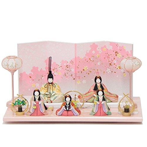 雛人形 五人揃平飾り 木目込み人形(5人) 幅55cm 183to2129 大里彩 名匠   B075J77NJL