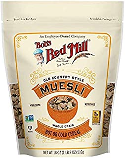 product image for Bob's Red Mill Resealable Old Country Style Muesli Cereal, 18 Ounce (Pack of 4)