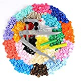 GUAngqi Children Clothing Buttons 15 Color 300 Resin Buckle Installation Tools Hand Pressure Pliers