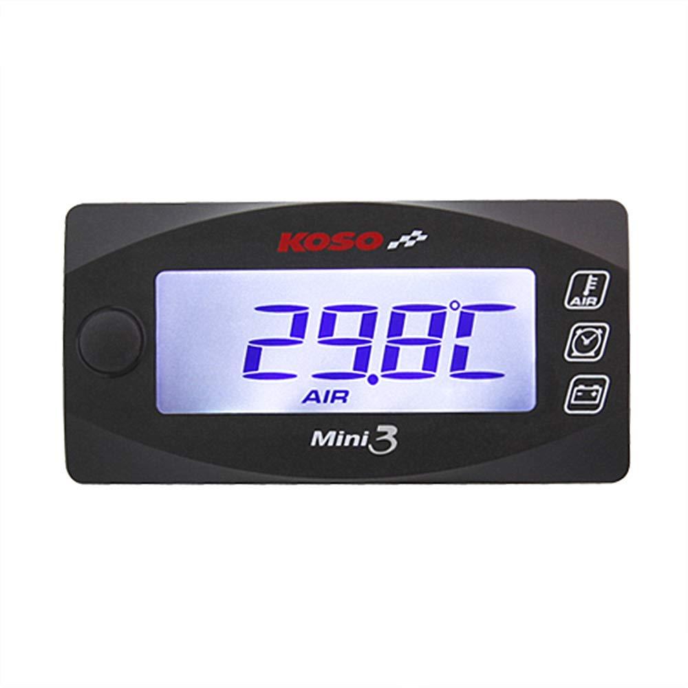 Smoku Motor Universal Waterproof Super Slim Mini-3 Indicator(Voltmeter+Air Temperature+Time)