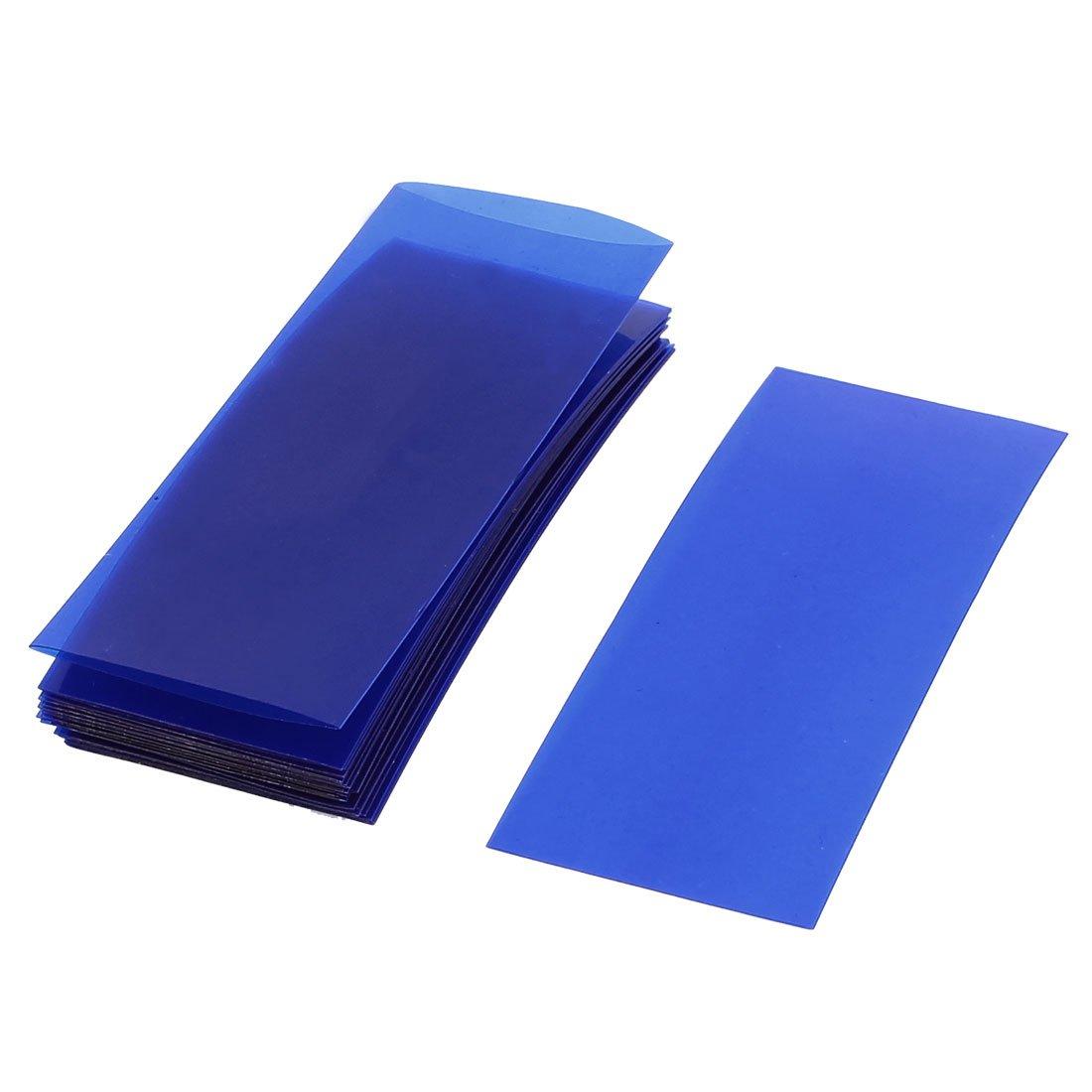 Sourcingmap 20/pi/èces 73/Mmx18.5/mm PVC thermor/étractable Bleu clair Pour batterie 18650