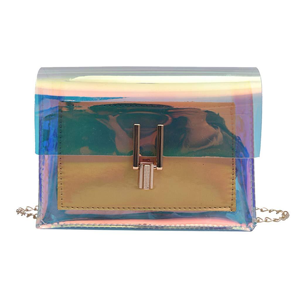 Purses, Lightweight Crossbody Bags for Women,Fashion Women's Transparent Crossbody Bags Messenger Shoulder Bag Beach Bag Gold
