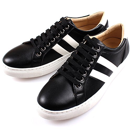 New Polytec Classic Casual Casual Athletic Lace Up Uomo Moda Scarpe Da Ginnastica Nere
