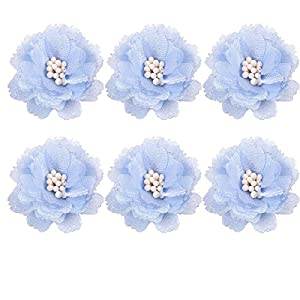Toyvian 10pcs Wedding Flower Corsages Artificial Bride Bridesmaid Bust Flower for Wedding Party Prom (Blue) 118
