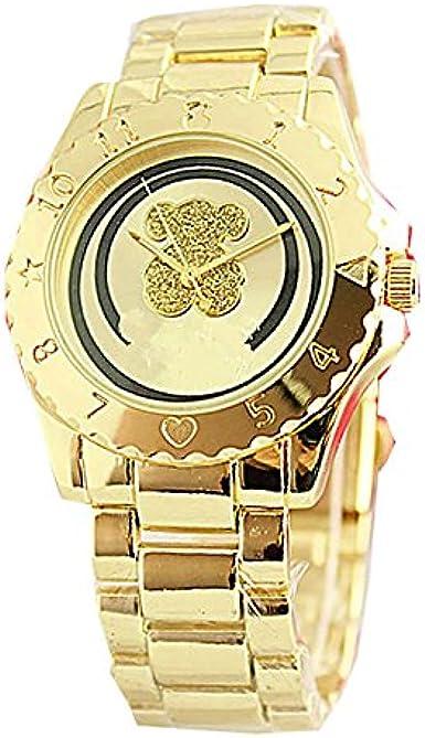 Reloj de Acero Inoxidable De Oro No Hay números Simple Dial Osito Pequeno El Reloj Osito Pequeno España Tous: Amazon.es: Relojes