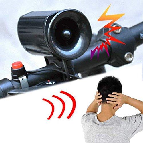 Dealzone 6 Sound Bike Bicycle Super Loud Electronic Siren Horn Bell Ring Alarm Speaker Cm