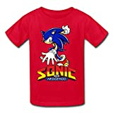 Kid's Sonic The Hedgehog T-shirts Red