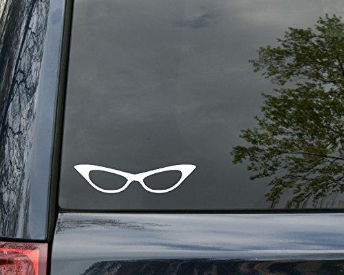 Minglewood Trading Glasses Sunglasses Eyeglasses Cat Eye - Vinyl Decal Sticker 5