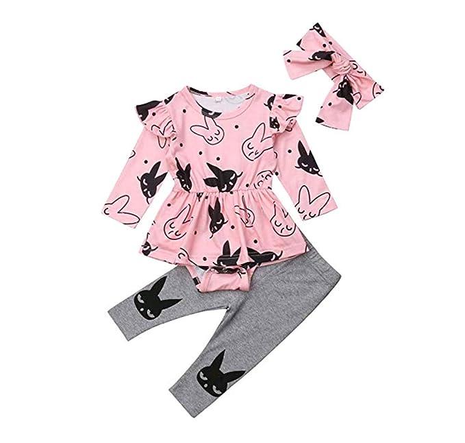 Amazon.com: SUUGEN - Vestido de bebé para niña con dibujos ...