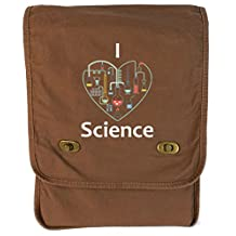 Dancing Participle I Heart Science Java Canvas Field Bag
