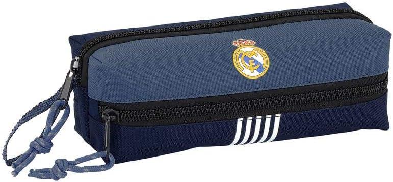 Real Madrid- Manualidades/Escolares Unisex Adulto Estuche portatodo Triple Blue 841901-823, Multicolor, Talla única (SAFTA 1): Amazon.es: Oficina y papelería