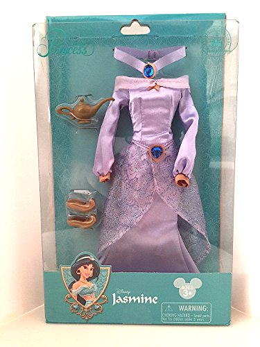 Walt Disney Parks Exclusive Aladdin Jasmine Doll Costume Set With Dress, Lamp, Shoes and Necklace ()
