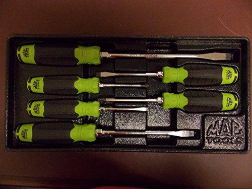 Mac Tools (Mac Tools Set of 6 Green Combination Screwdriver Set, Vintage/Rare Part #SDB6CR)