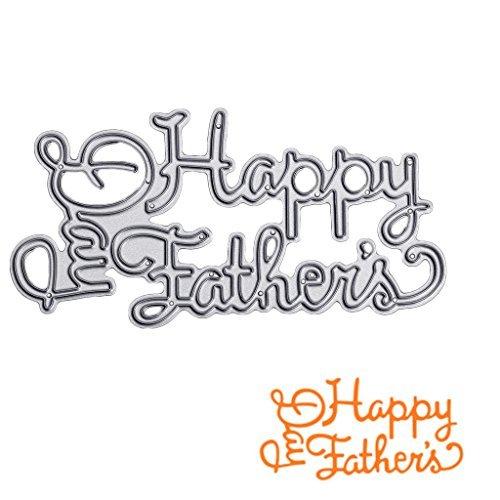 SCASTOE Happy Father's Day Cutting Dies Stencil DIY Scrapbooking Card Album Embossing ()