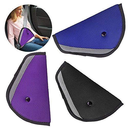 Bestgle Car Seatbelt Triangle Adjusters, 3 Pcs Auto