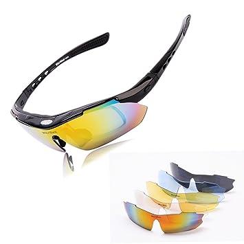 SunDay POLARIZE Sports Cyclisme Lunettes de soleil pour hommes Femmes Cirage à vélo Lunettes de course c4P3g59